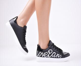 Дамски спортни  обувки еко кожа черни VHCA-1011428
