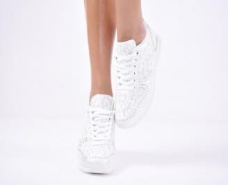 Дамски спортни обувки  еко кожа бели QXPZ-1011437