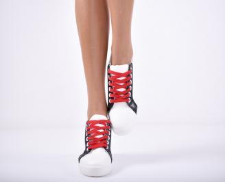 Дамски спортни обувки  еко кожа бели NNRG-1011724