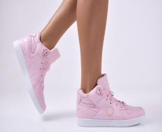 Дамски спортни  обувки еко кожа  розови XCNR-1012706
