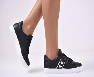 Дамски спортни  обувки еко кожа черни YFSX-1012757