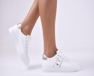 Дамски спортни  обувки еко кожа бели XGRV-1012758