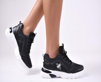 Дамски спортни  обувки еко кожа  черни ZBFD-1012779