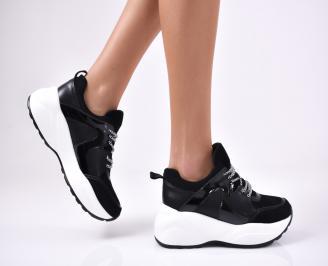 Дамски спортни  обувки еко кожа  черни XFQY-1012780