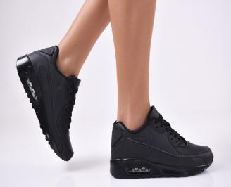 Дамски спортни  обувки еко кожа  черни POXK-1012791