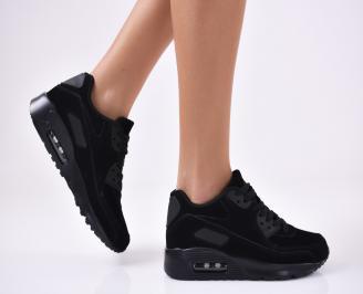 Дамски спортни  обувки еко велур  черни RXND-1012792