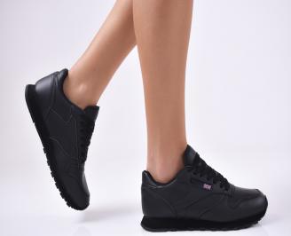 Дамски спортни  обувки еко кожа  черни EBSF-1012793