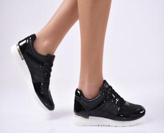 Дамски спортни  обувки еко кожа  черни ARAB-1012794