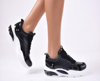 Дамски спортни  обувки еко кожа  черни EVCF-1012799
