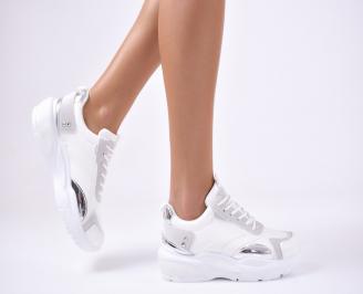 Дамски спортни  обувки еко кожа бели WGDQ-1012800