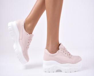 Дамски спортни  обувки еко кожа  розови PRHS-1012801