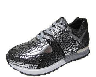 Дамски спортни обувки еко кожа сребристи JGRZ-21148