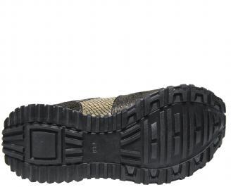 Дамски спортни обувки еко кожа златисти BWXQ-21153
