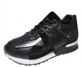 Дамски спортни обувки еко кожа черни XAHK-21155