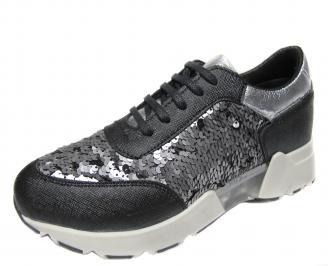 Дамски спортни обувки еко кожа черни EPWH-21161
