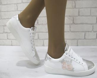 Дамски спортни обувки  еко кожа бели XRRM-23121