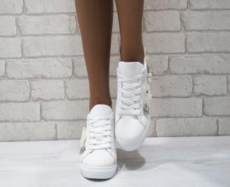 Дамски спортни обувки  еко кожа бели AVAH-24864