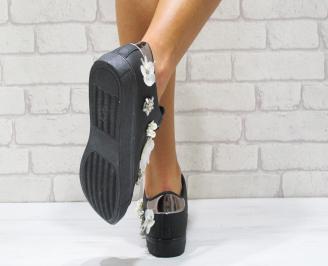 Дамски спортни обувки  еко кожа черни COKC-24865