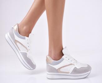 Дамски спортни обувки  еко кожа бели FVYN-26418