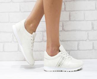 Дамски спортни обувки  еко кожа бежови EWBV-26420