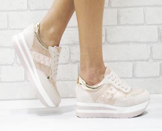 Дамски спортни обувки  еко кожа розови FLXY-26431