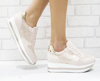 Дамски спортни обувки  еко велур/текстил розови VBVF-26448