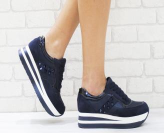 Дамски спортни обувки  еко кожа  сини GRES-26450