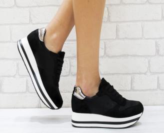 Дамски спортни обувки  еко кожа черни VBYP-26451