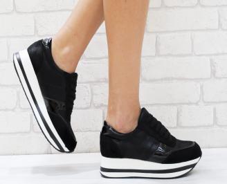 Дамски спортни обувки  еко кожа черни NEEL-26452
