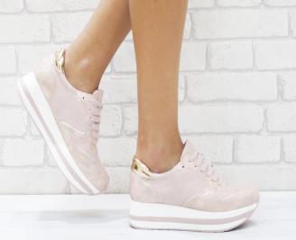 Дамски спортни обувки  еко кожа розови BNBS-26453