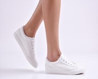 Дамски спортни обувки  еко кожа бели RWZB-26968