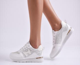 Дамски спортни обувки еко кожа/текстил бели XGTJ-26996