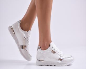 Дамски спортни обувки еко кожа/текстил бели MUTA-26997