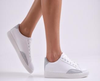Дамски спортни обувки еко кожа бели DYZB-26998