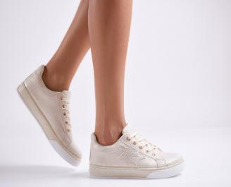 Дамски спортни обувки  еко кожа бежови OTYN-27072