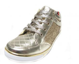 Дамски спортни обувки еко кожа/лак златисти NIRA-13546