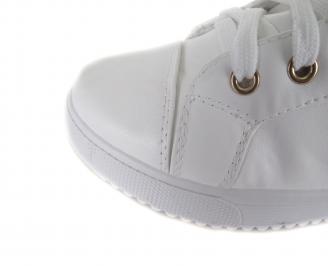 Дамски спортни обувки еко кожа бели XUIF-17650