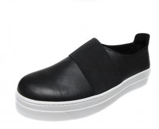 Дамски спортни обувки естествена кожа черни ZTAH-21144