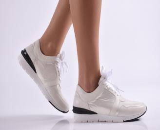 Дамски спортни обувки  естествена кожа бежови GRKP-26916
