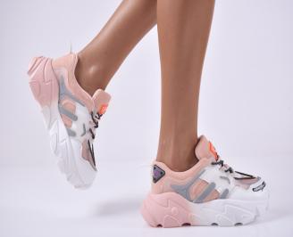 Дамски спортни обувки розови EHEW-1014186