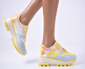 Дамски спортни  обувки  шарени IANA-1014228