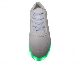 Дамски спортни обувки/светещи/еко кожа бели SICM-22153