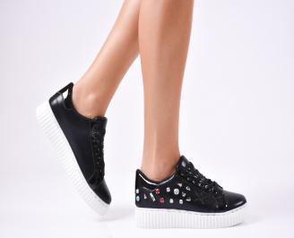 Дамски спортни  обувки текстил черни VCPV-1010249