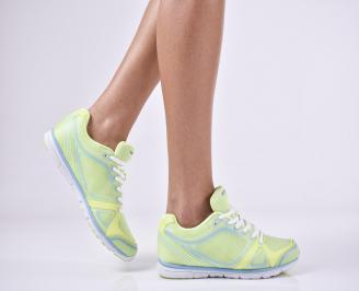 Дамски спортни  обувки текстил зелени GIQX-1011169