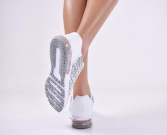 Дамски спортни  обувки текстил бели RBNZ-1011188