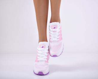 Дамски спортни обувки текстил бели VAOC-1011711