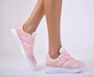 Дамски спортни обувки текстил пудра SPCB-1011713