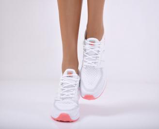 Дамски спортни обувки текстил бели WQHU-1011714