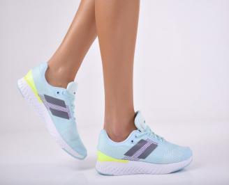 Дамски спортни обувки текстил сини KQZW-1011716