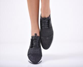 Дамски спортни  обувки текстил черни TFBH-1011739